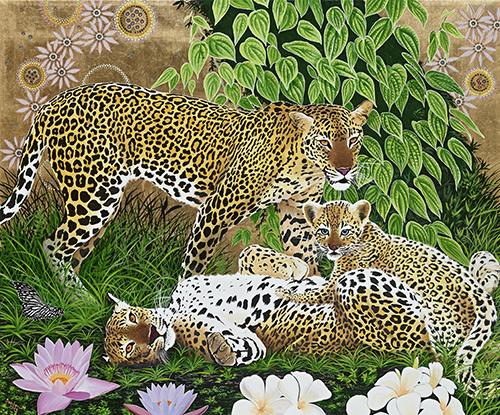 Maurizio-Boscheri-The-royal-family-oil-on-canvas-cm120x120-anno-2012-