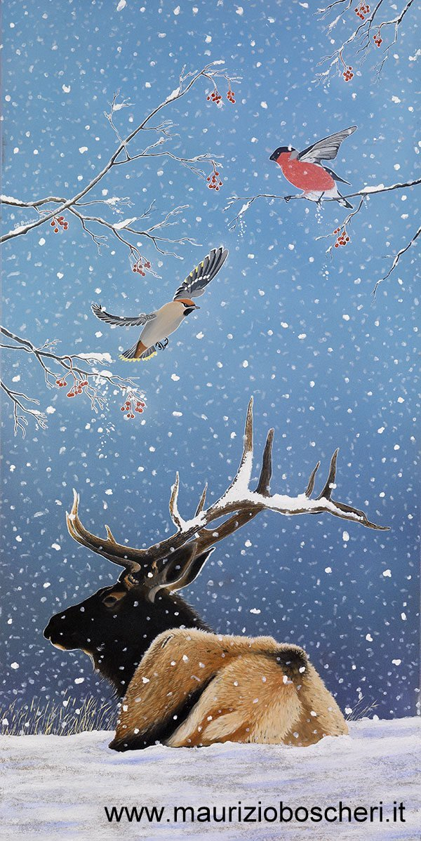 snow-deer-oil-on-canvas-60x120-2008